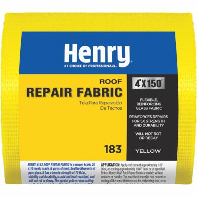 Henry 4 In. x 150 Ft. Yellow Glass Reinforcing Fabric
