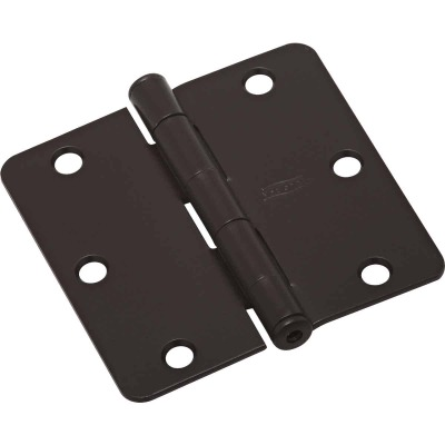 National 3-1/2 In. x 1/4 In. Radius Oil Rubbed Bronze Door Hinge