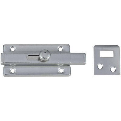 National 3 In. Chrome Door Slide Bolt
