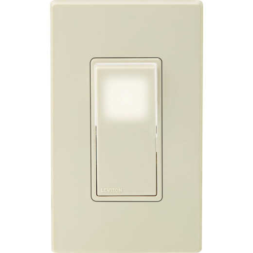 Leviton Decora 15A 120V/277V Light Almond LED Illuminated Rocker Switch