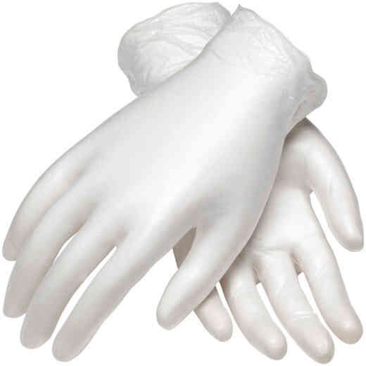 PIP Ambi-Dex Large Clear Vinyl Disposable Gloves (100-Pack)