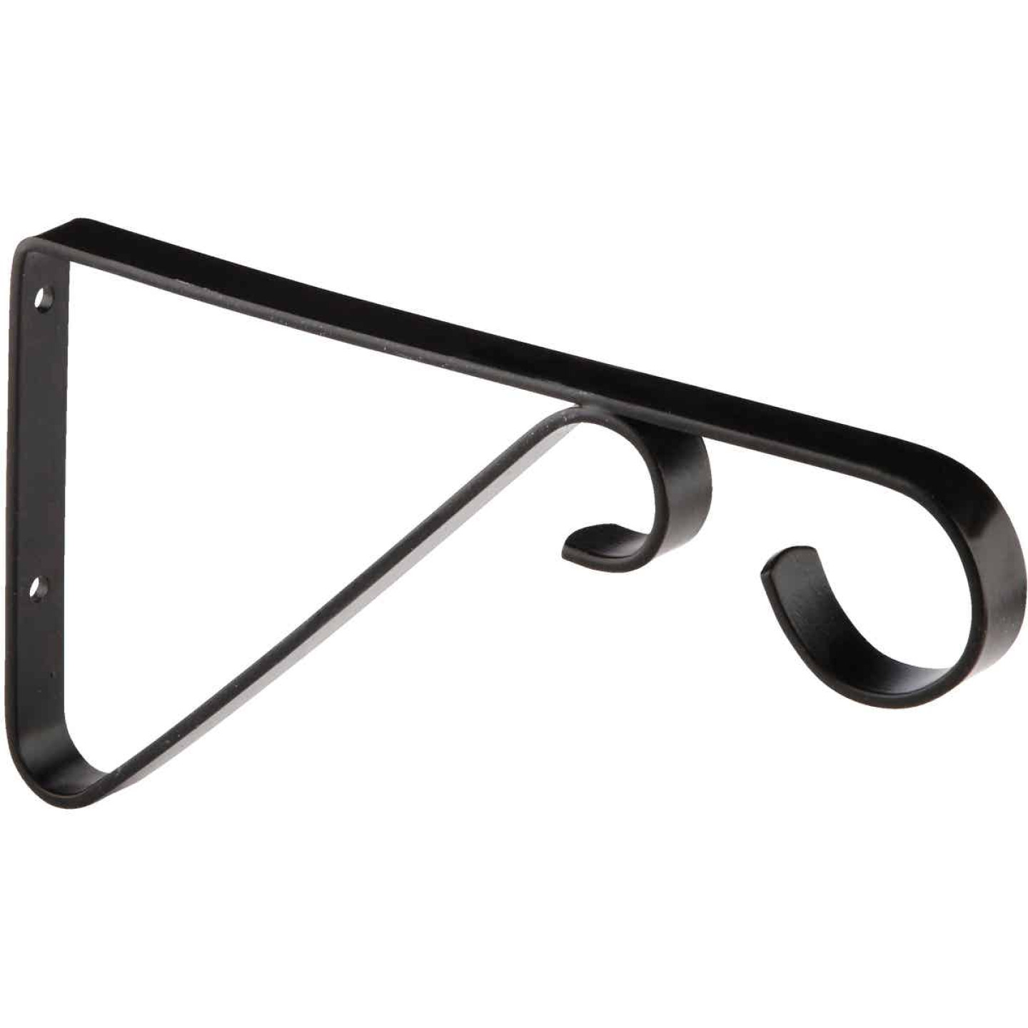 National 6 In. Black Steel Hanging Plant Bracket Image 4