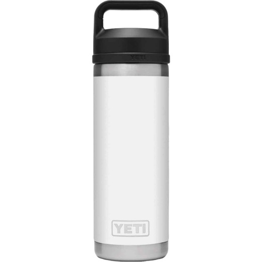 Yeti Rambler 18 Oz. White Stainless Steel Insulated Vacuum Bottle with Chug Cap